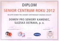 Domov pro seniory Kamenec je Senior centrem roku 2012