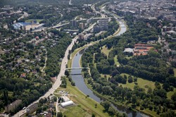 Pohled na řeku Ostravici