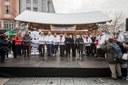 Slavnostní přestřižení pásky za účasti předsedy vlády Andreje Babiše, hejtmana Ivo Vondráka, primátora Tomáše Macury a dalších osobností.
