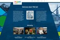 Webové stránky k 750. výročí Ostravy