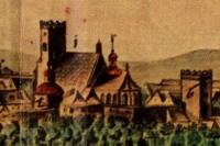 Kostel sv. Václava na akvarelu z r. 1728