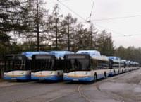 Autobusy na CNG a trolejbusová trať