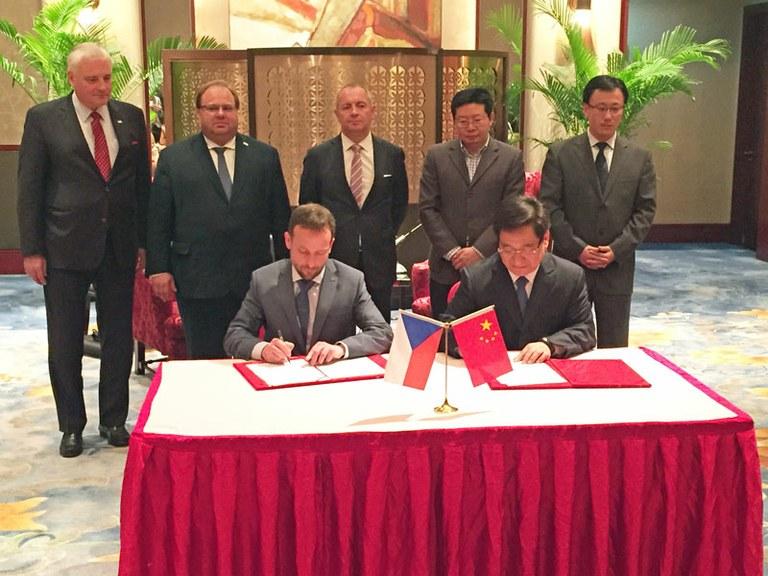Města Ostrava a Suzhou jsou partnery