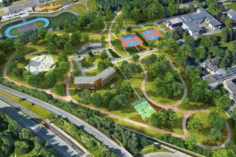 Město dostaví sportovní areál