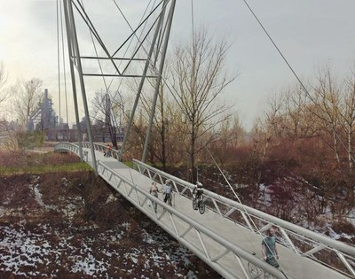 Město nechá postavit novou lávku přes Ostravici, jejím autorem je architekt Pleskot