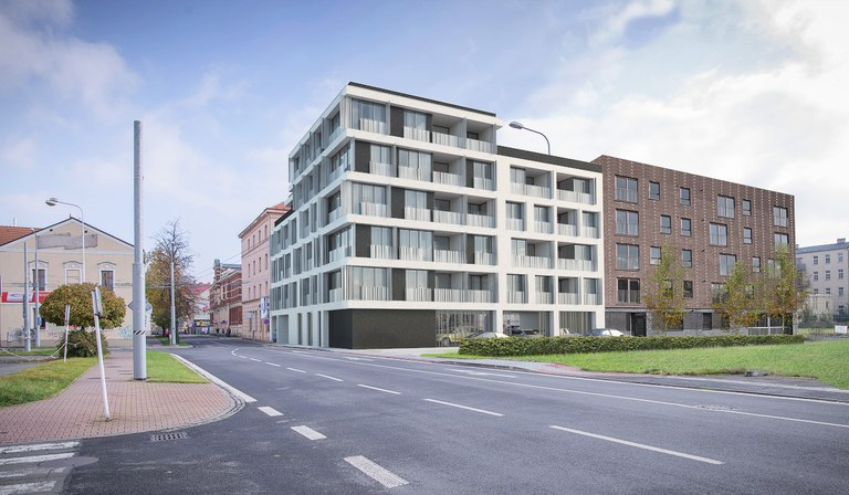 Nový dům s nájemními byty postaví město v proluce v centru Ostravy