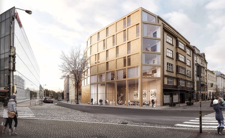 Pokračují přípravné práce na projektu bytového domu v centru města