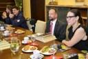 Náměstkyně Andrea Hoffmanová a primátor Tomáš Macura na setkání s českými šampiony.