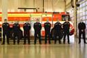 Nastoupená jednotka hasičů.