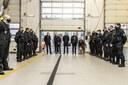 Sváteční setkání se sloužícími jednotkami.