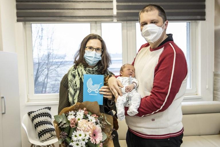 První narozené děti v Ostravě v roce 2021