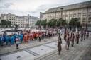 Slavnostní nástup na Prokešově náměstí.