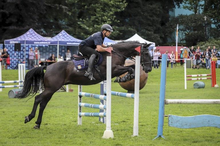 Strážník Městské policie Ostrava je přeborníkem České republiky v jízdě na koni