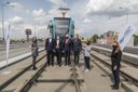 Pásku za město Ostrava slavnostně přestřihl náměstek primátora Vladimír Cigánek.