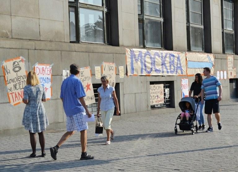 V den prvního výročí srpnové okupace bylo v Ostravě zatčeno 165 lidí