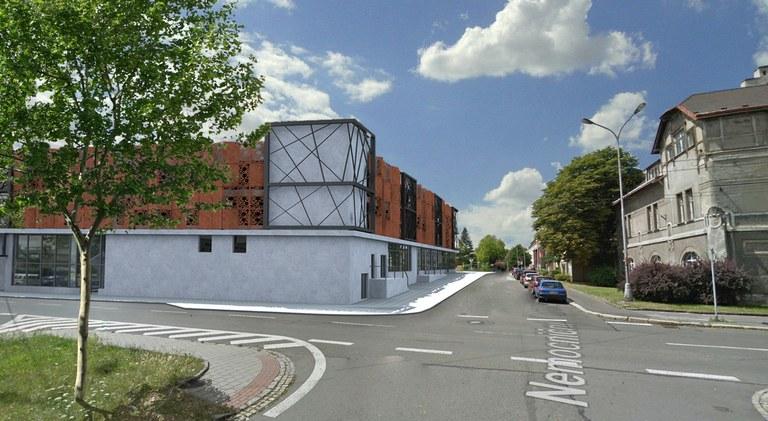 Výstavba parkovacího domu u městské nemocnice bude zahájena v říjnu.