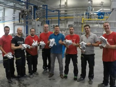Chassix Inc. Ostrava successfully produced their very first set of trial castings!