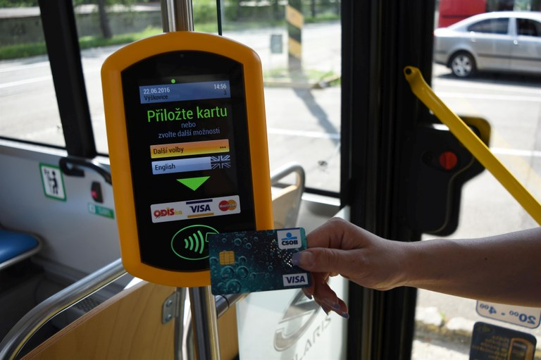 Electronic payments in Ostrava's public transport are becoming more and more popular