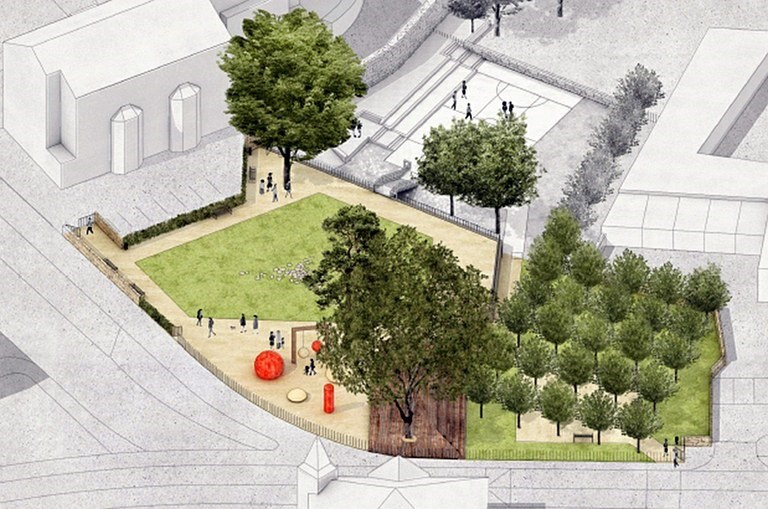Former parish garden in the centre of Ostrava to be revitalized