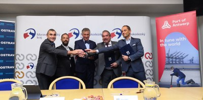 NEW CONTAINER TERMINAL TO RISE IN THE MOŠNOV ZONE, CONNECTING  OSTRAVA AIRPORT AND INDUSTRIAL ZONE WITH THE PORT OF ANTWERP BY RAIL