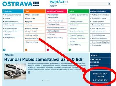 Ostrava continues to reduce its debt levels