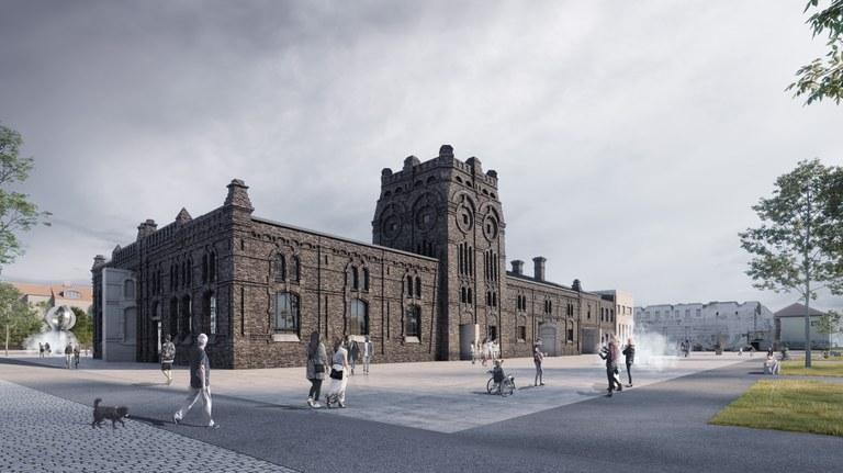 Ostrava: work begins to transform the former municipal slaughterhouse into a modern art gallery