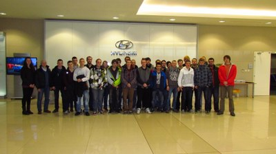 Students of Ostrava secondary schools visited the Hyundai plant in Nošovice