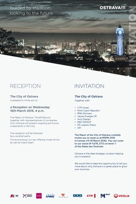 We invite you to the Ostrava stand at MIPIM trade fair