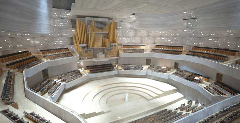 Work continues on Ostrava's concert hall, which will have a very light envitomental footprint