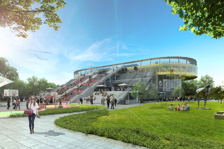 Visualisation of the new campus