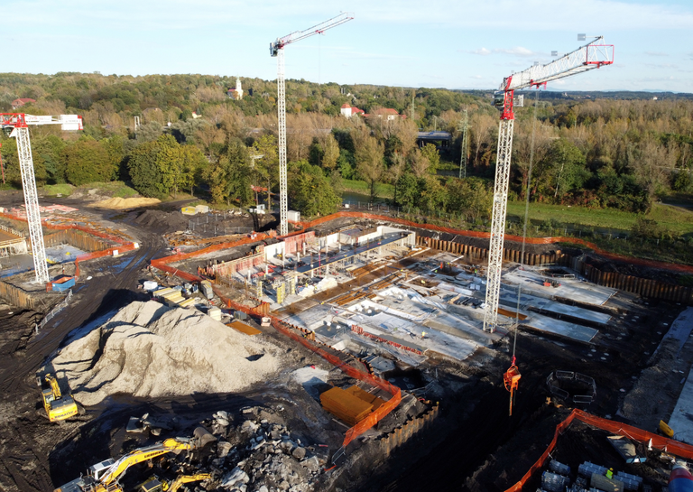 Work on Ostrava University's new campus is in full flow